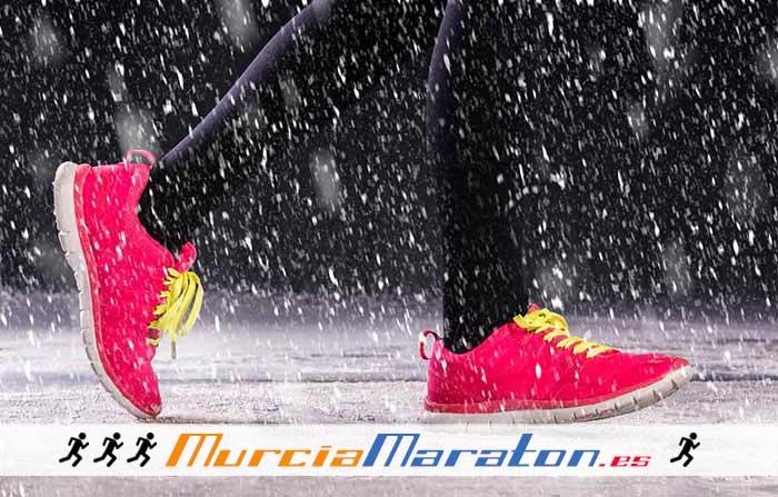 Correr con Lluvia y Frío