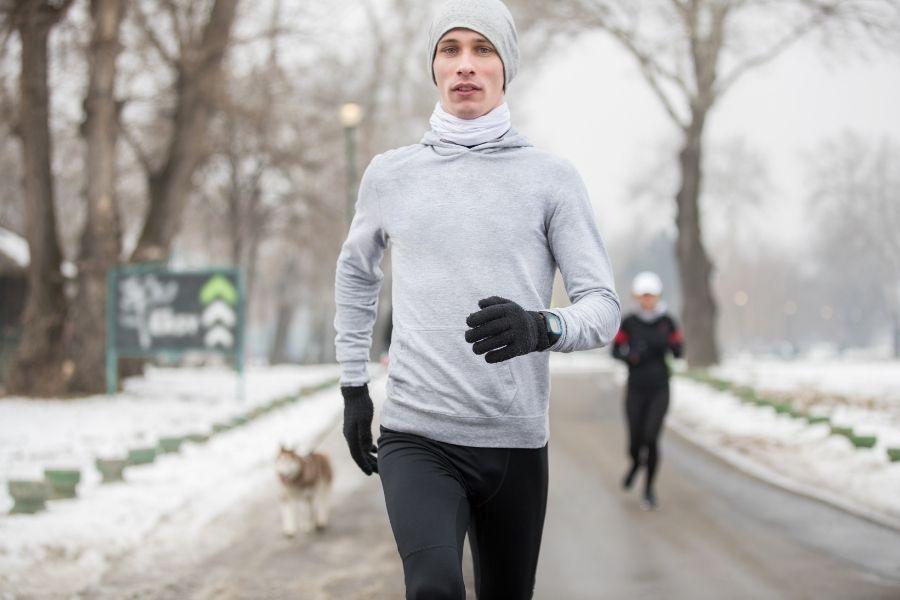 Correr con Lluvia y Frio