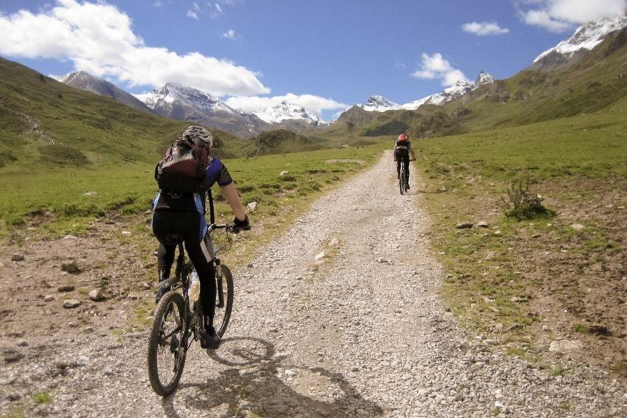 subir en ciclismo de montaña